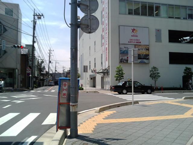 春日部駅近くの十字路