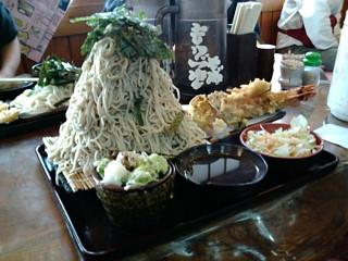 奥会津の蕎麦大盛