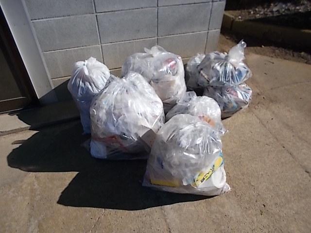クリーン作戦で集めたゴミ