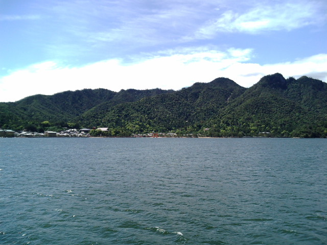 海上から厳島神社