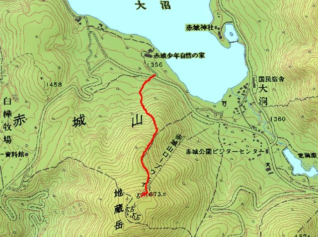 地蔵岳ルート