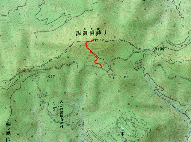 西御荷鉾山ルート
