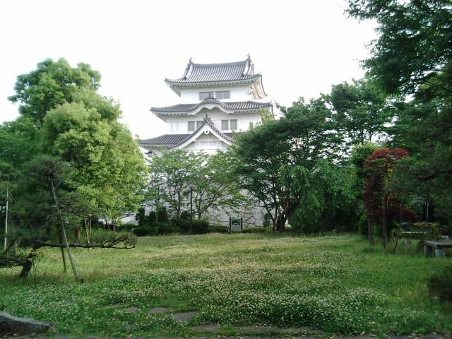 日本庭園から関宿城