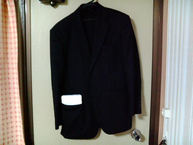 スーツポケットに収めたバイオP