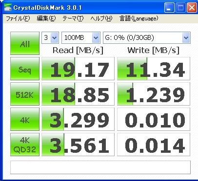 アドテックAD-MRHQM32G/10ベンチマーク