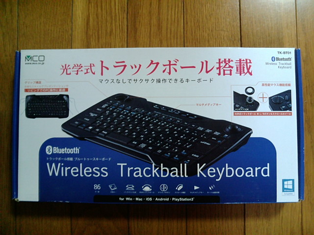 ミヨシMCO Bluetooth 光学式トラックボ-ル付きキ-ボ-ド TK-BT01