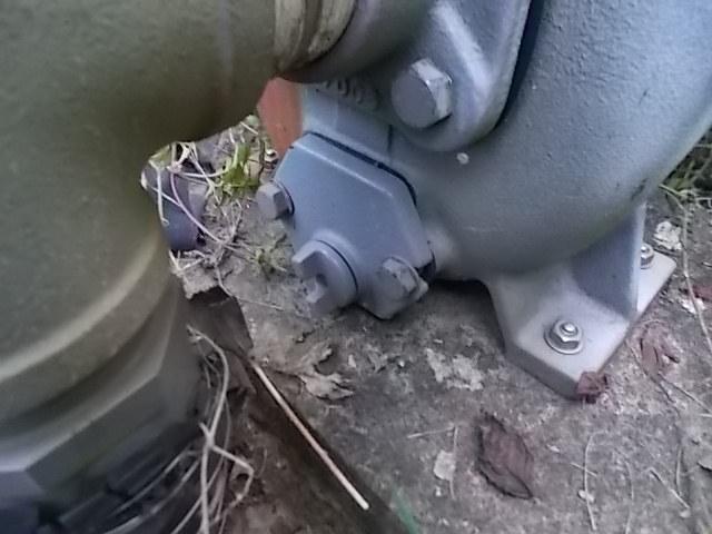 モーターポンプの排水キャップ