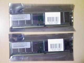 ノーブランドPC3200 1GB 2枚