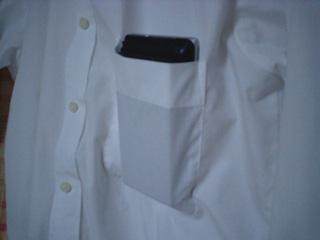 ワイシャツのポケットに収まる