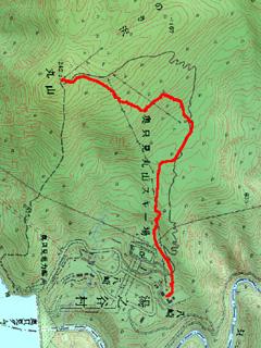 奥只見山頂から麓までの経路