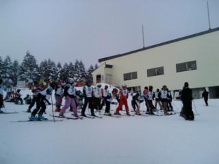 スキーのスターティンググリッド
