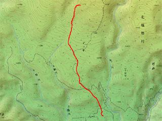 第3クワッドから麓までの経路