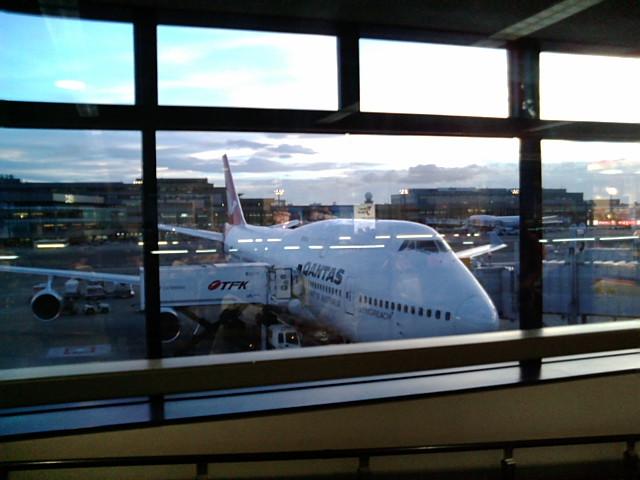 シドニー行き飛行機